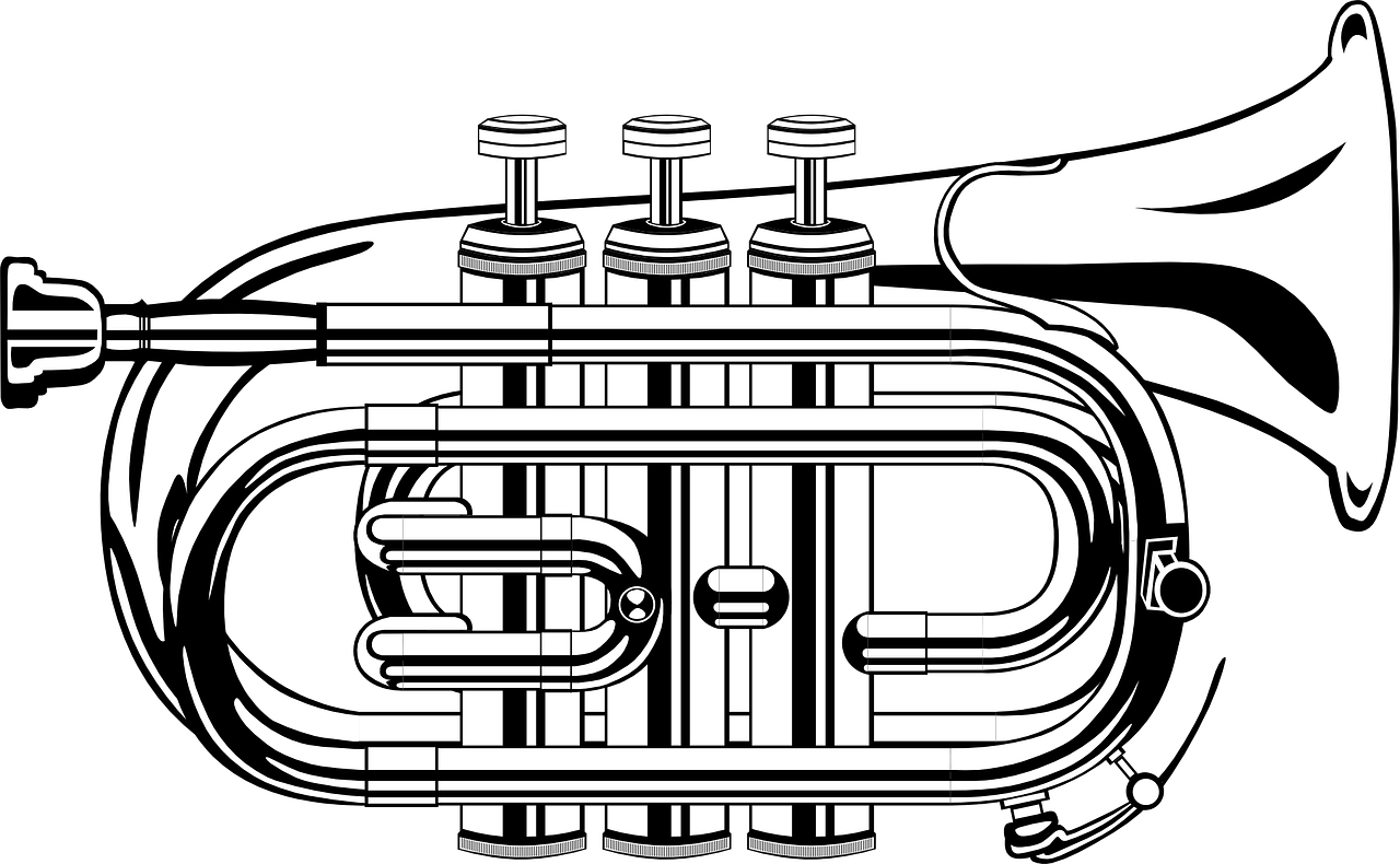 trumpet,music,brass,orchestra,symphony,musical instrument,pipe,blow,trumpeter,valves,free vector graphics,free pictures, free photos, free images, royalty free, free illustrations, public domain
