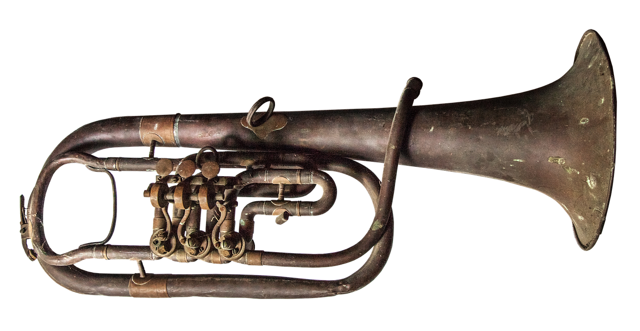 trumpet old brass free picture