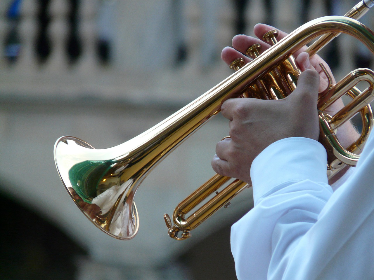 trumpet player trumpet musician free photo