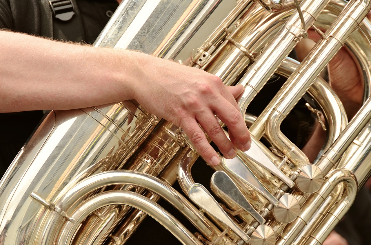 tuba brass band musical instrument free photo