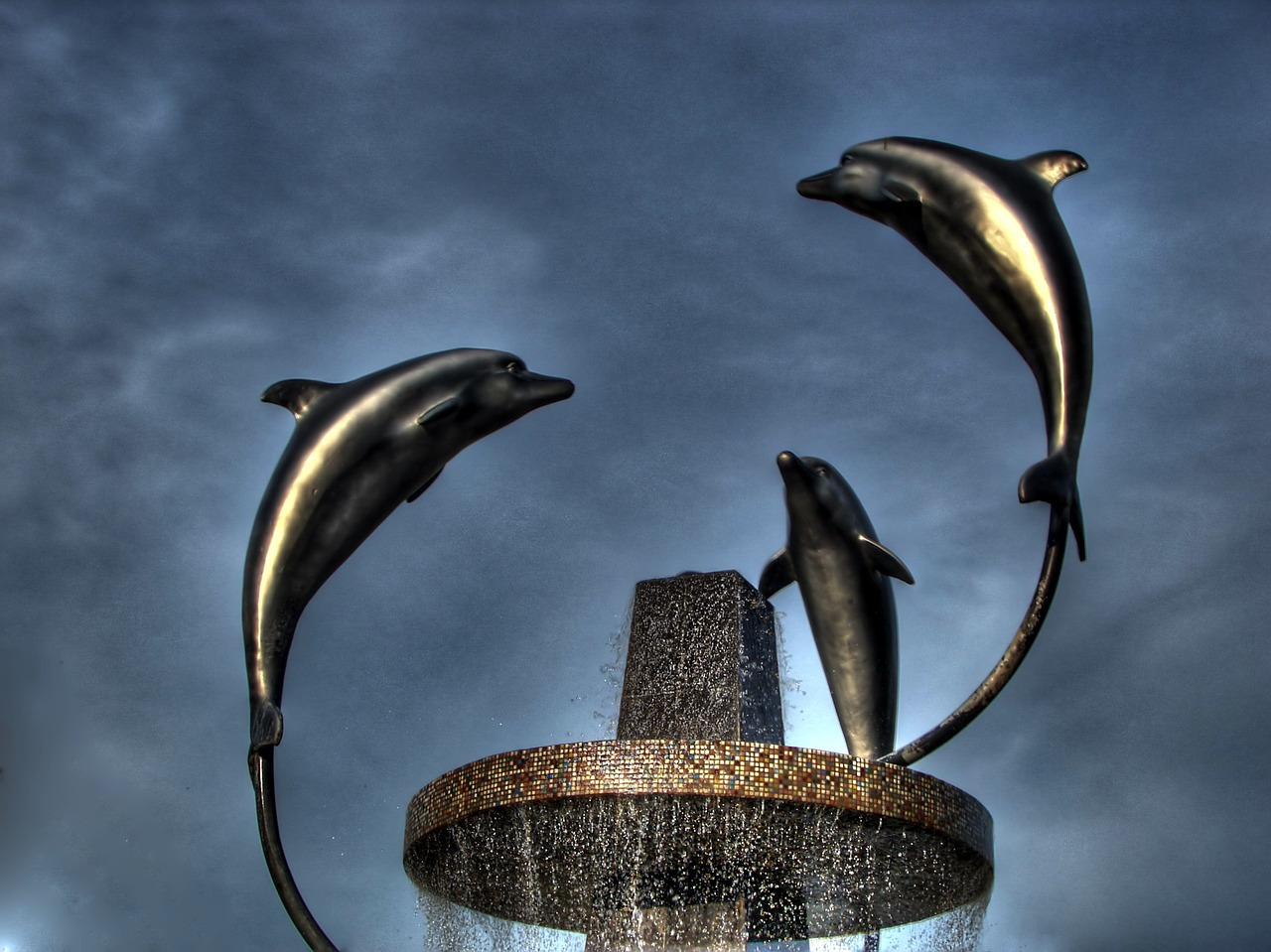 turkey dolphins sculpture free picture
