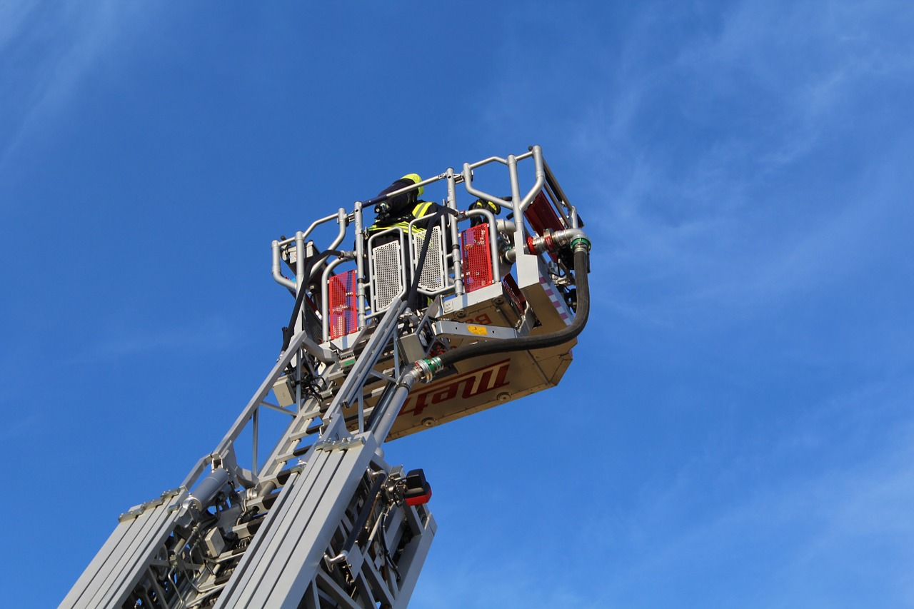turntable ladder fire ladder free photo