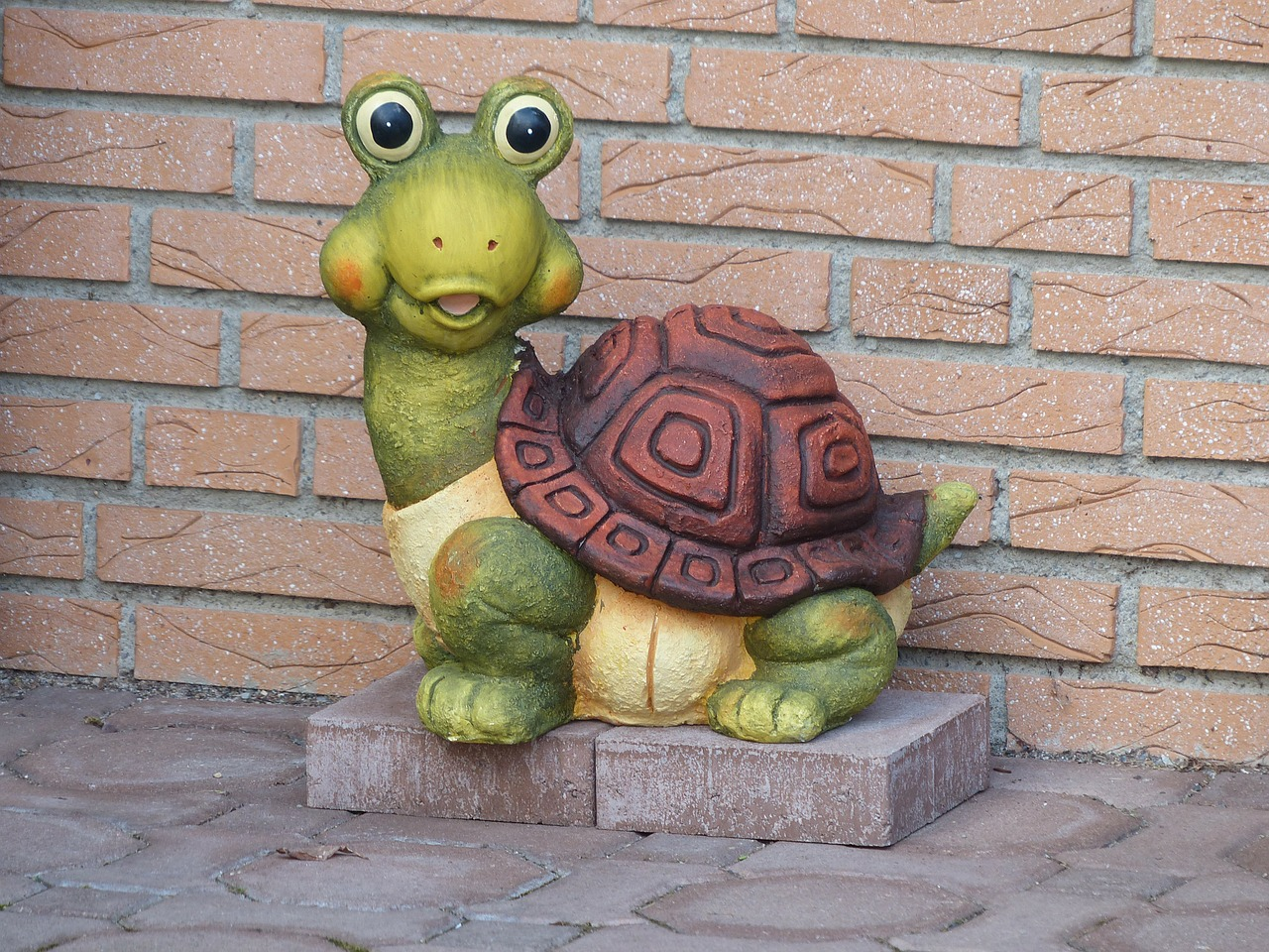 turtle figure clay figure free photo