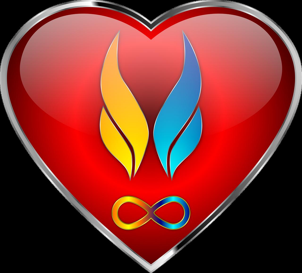 Twin flames,heart,soul,infinity,love - free photo from needpix com