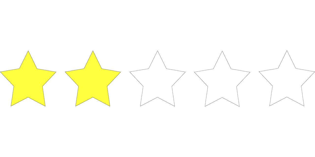 two stars rating free photo