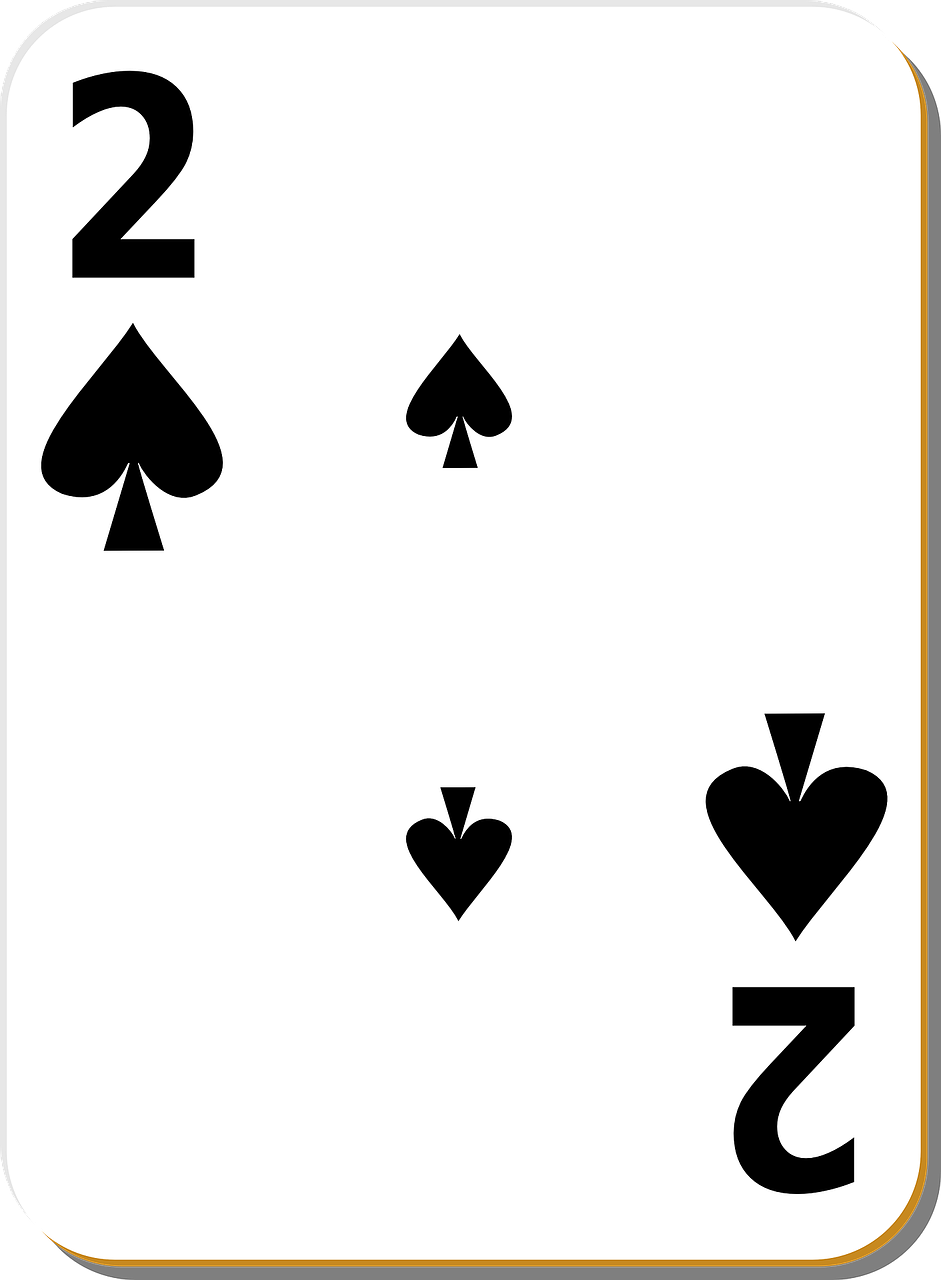 two spades playing cards free photo