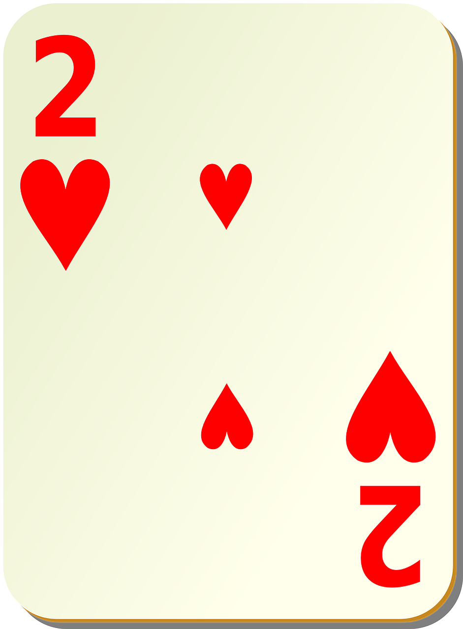 two hearts playing cards free photo