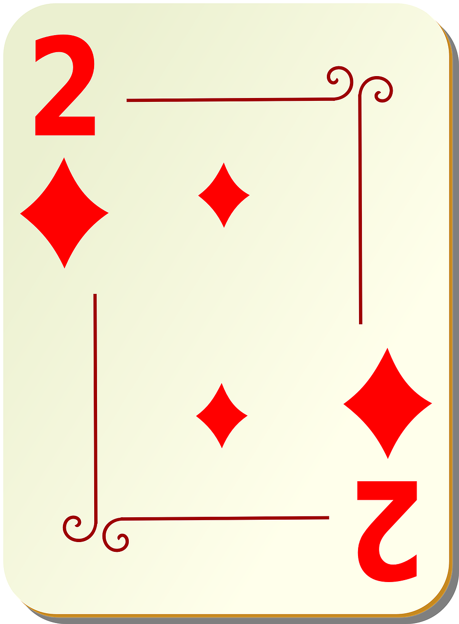 two diamonds playing cards free photo