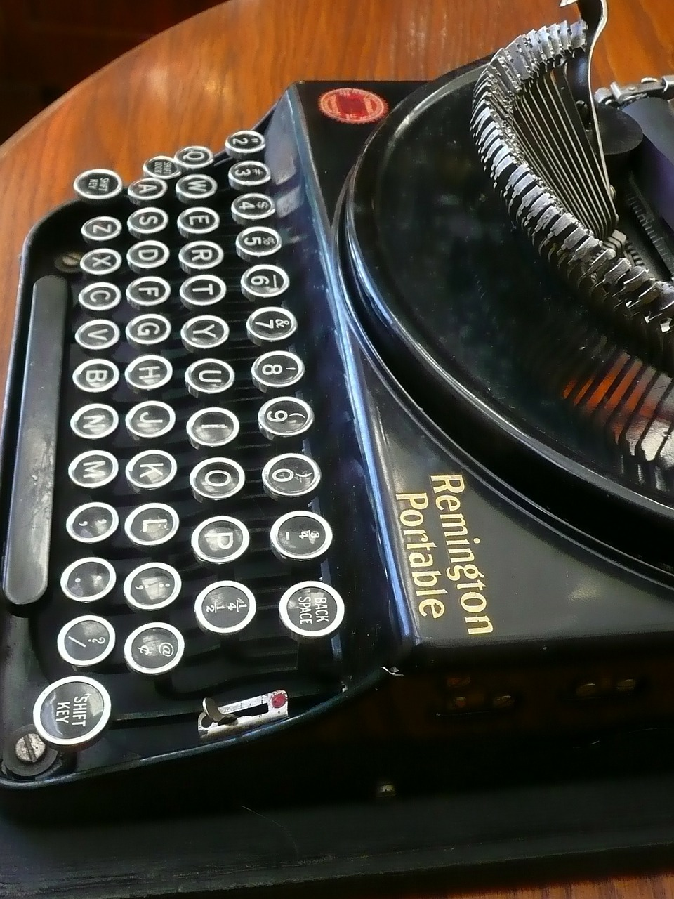 typewriter remington portable free photo