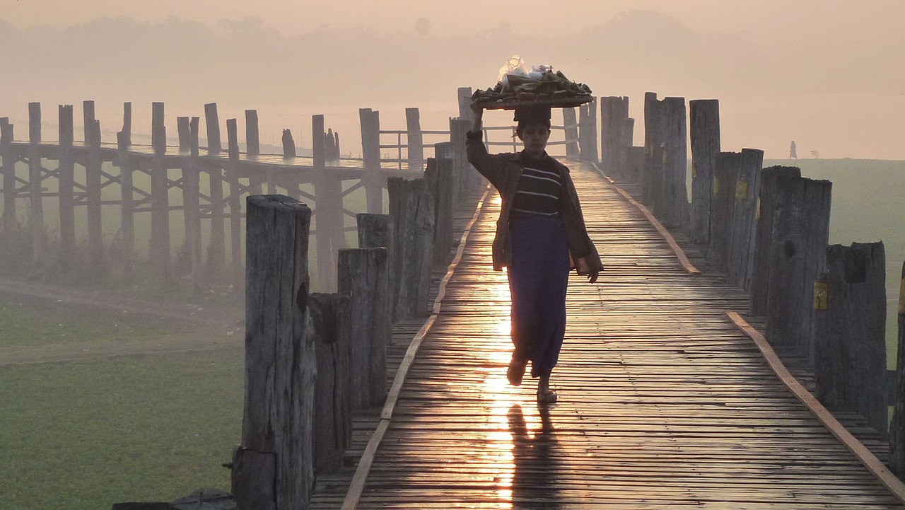 u bein bridge mandalay myanmar free photo