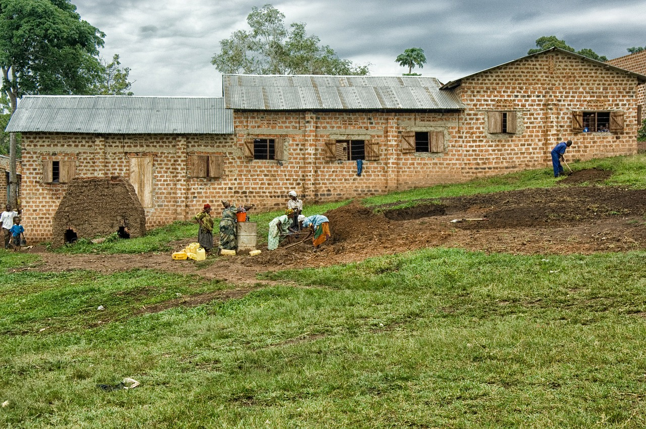uganda building landscape free photo