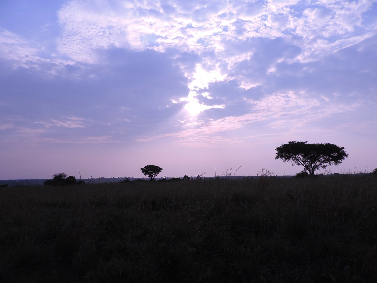 uganda twilight landscape free photo
