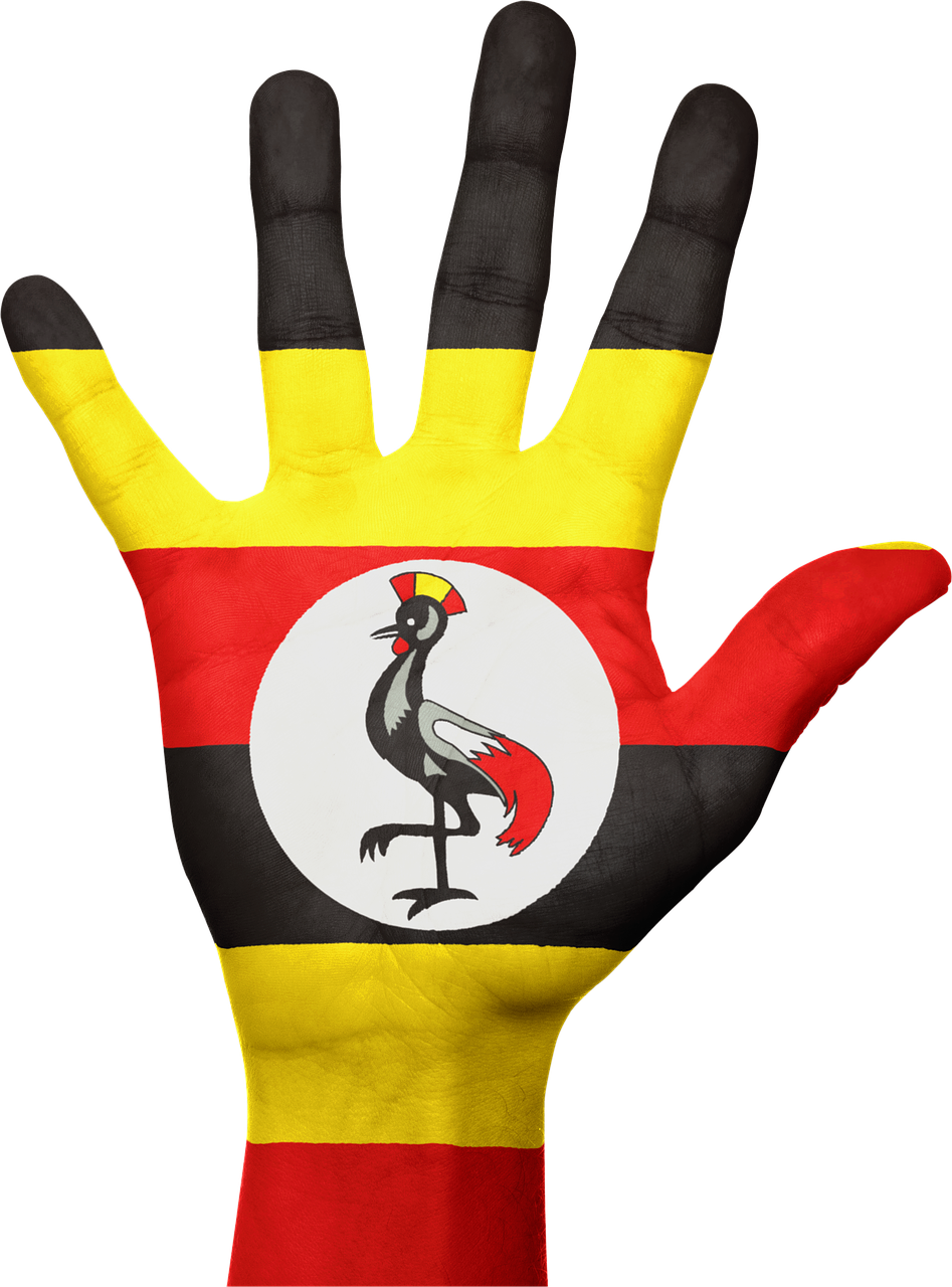 uganda hand flag free photo