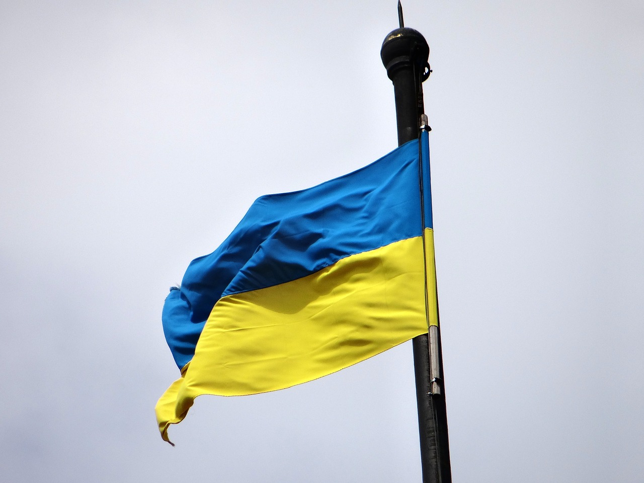 ukrainian flag symbol banner free photo