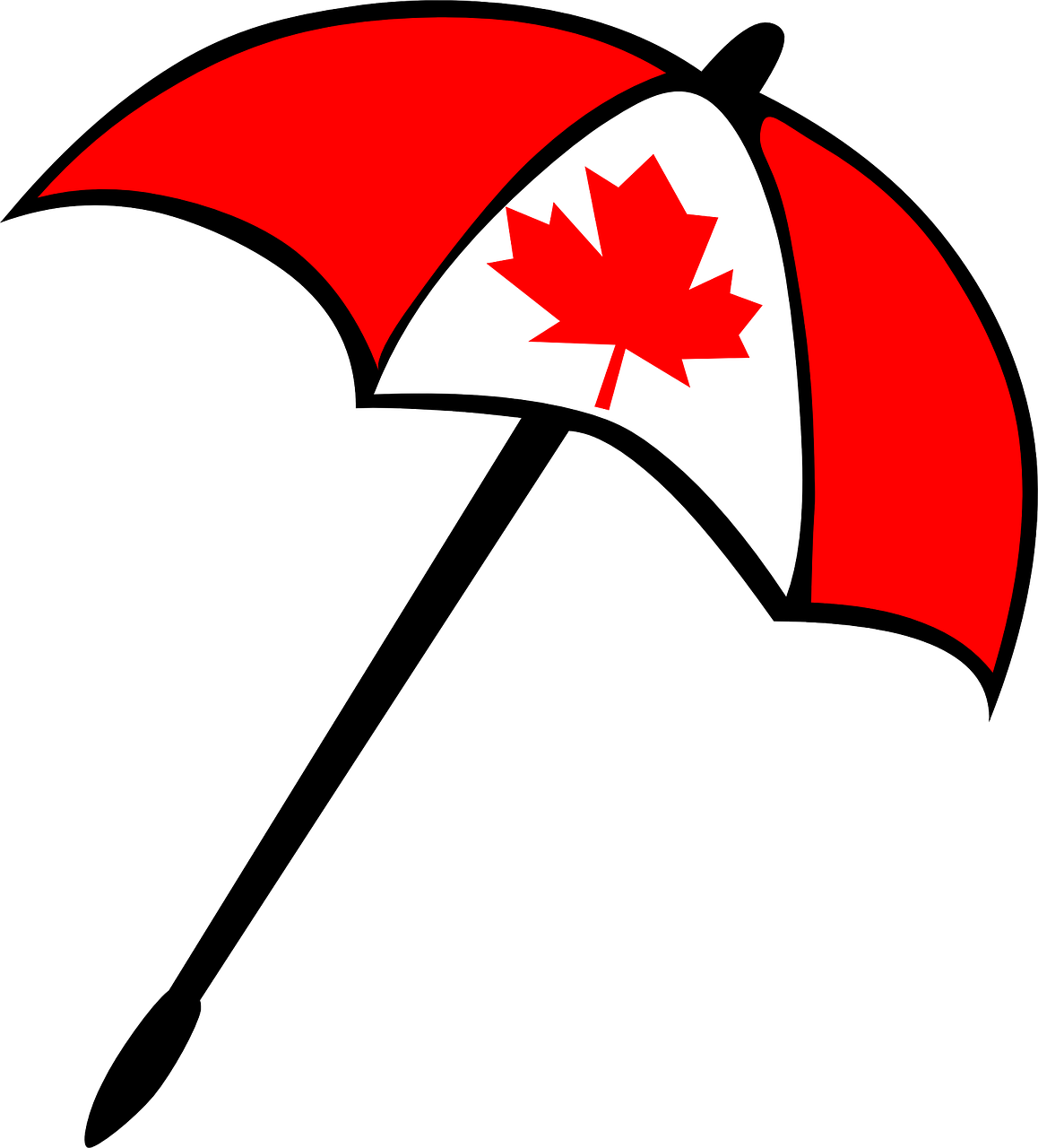 umbrella canada maple leaf free photo