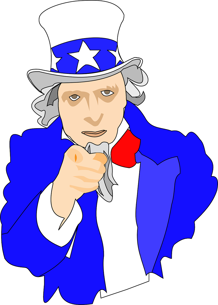 uncle sam,i want you,army,usa,man,hat,cylinder,topper,suit,finger,pointing,index finger,free vector graphics,free pictures, free photos, free images, royalty free, free illustrations, public domain