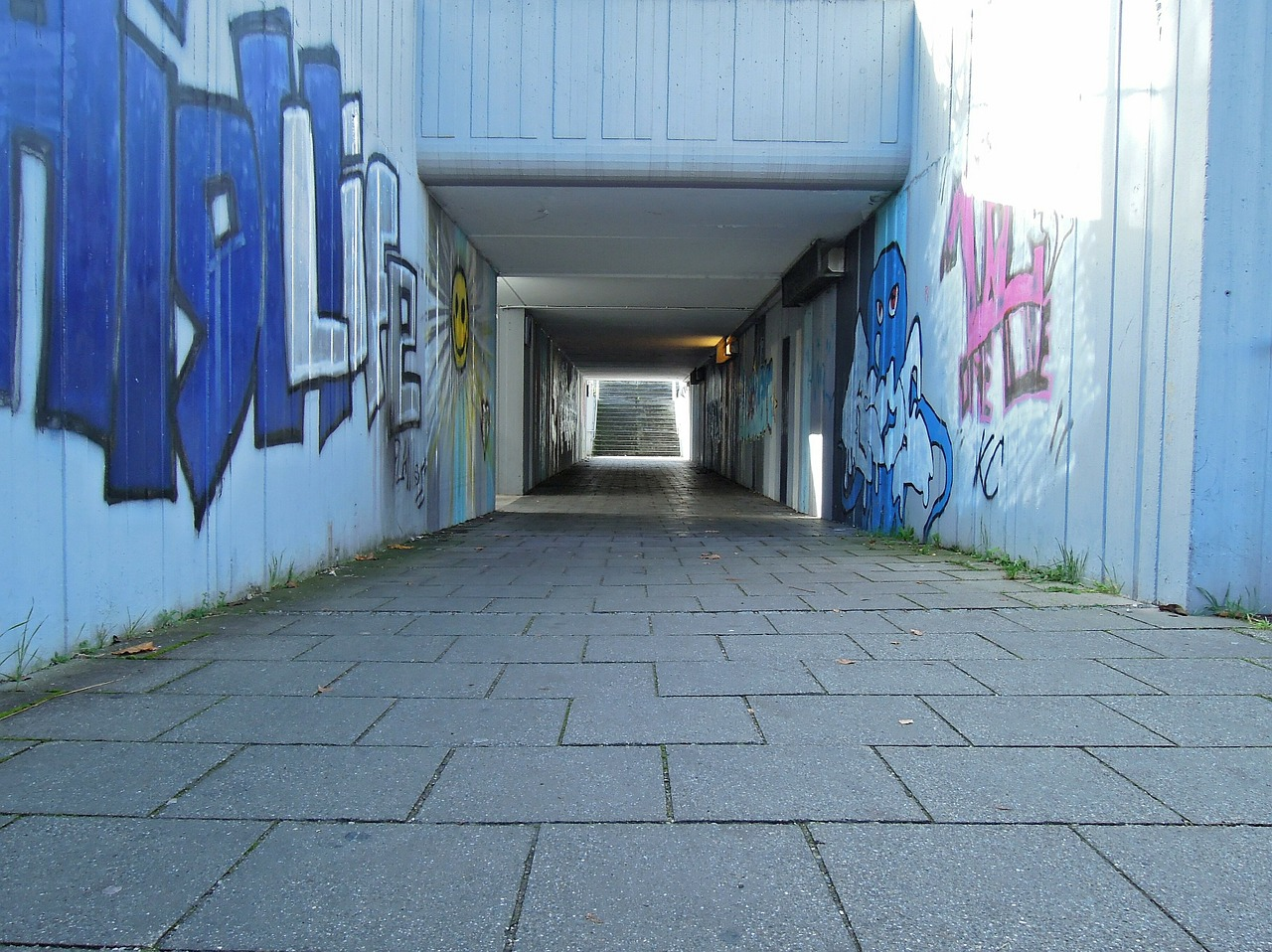 underpass railway underpass concrete free photo