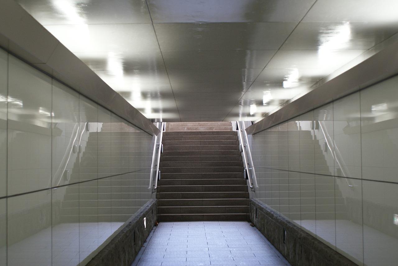 Underpass,stairs,handrail,lighting,narrow,underground,free Pictures, Free