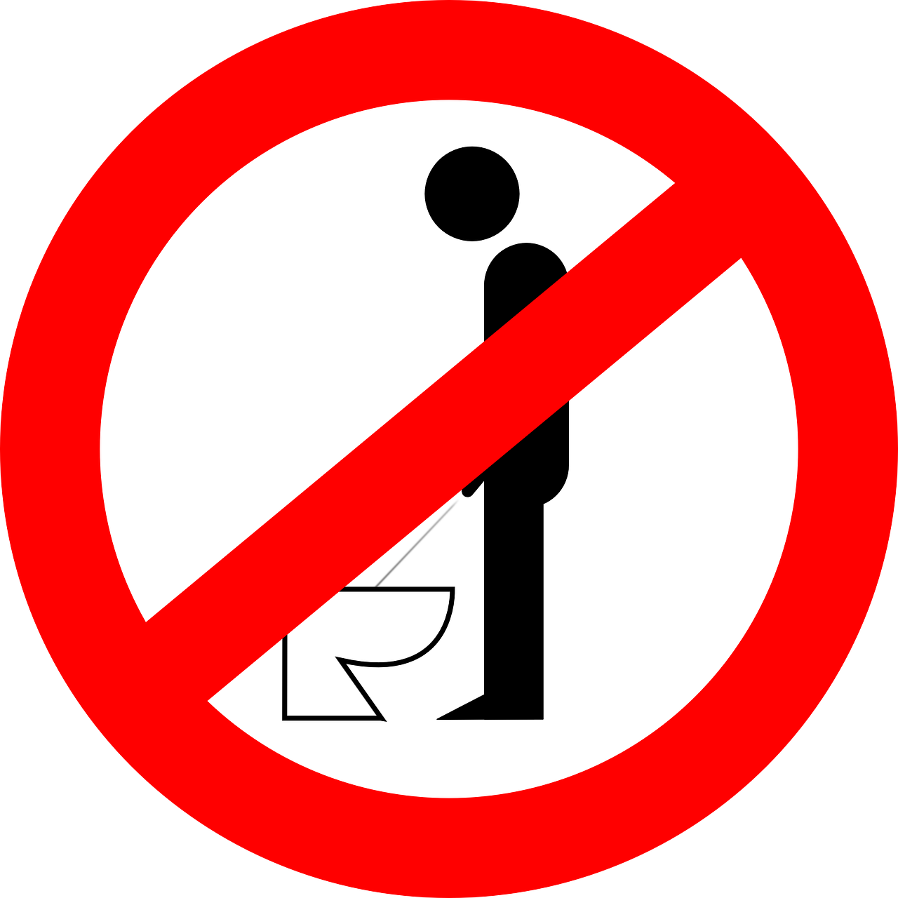 urinating forbidden peeing free photo