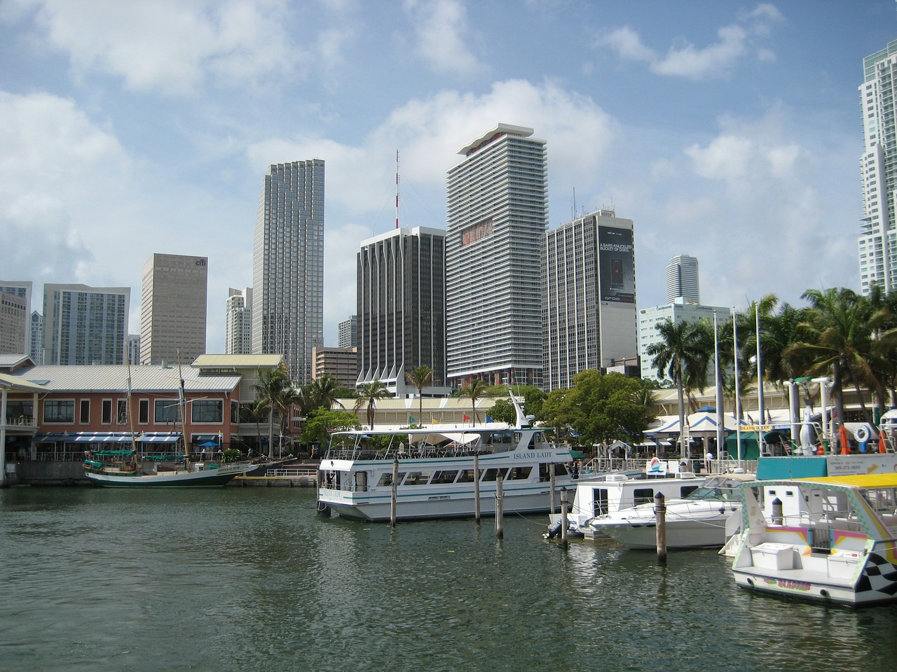 usa miami skyline free photo