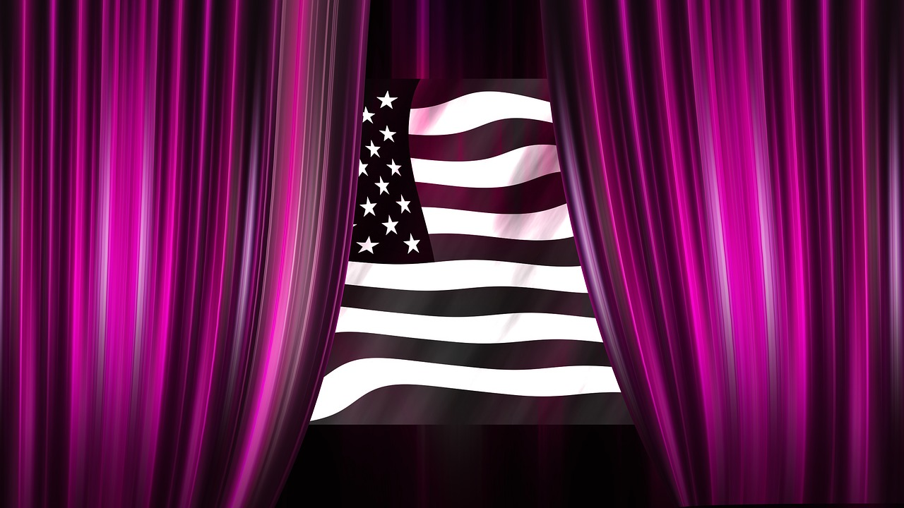 usa curtain stage free photo