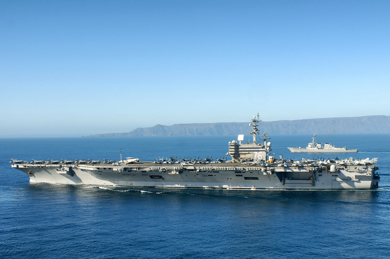 uss ronald reagan aircraft carrier sky free photo