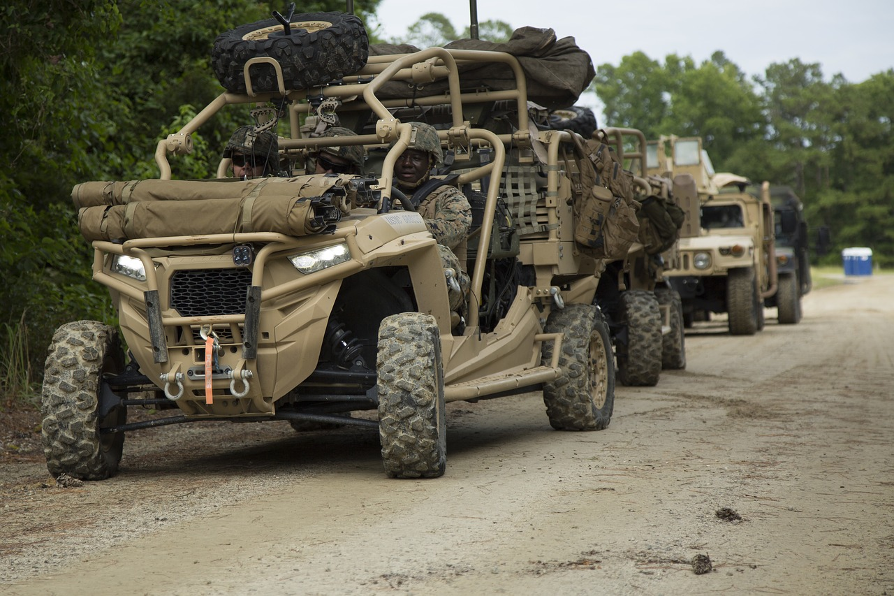utility tactical vehicle utv usmc free photo