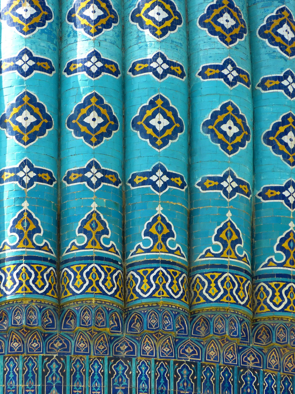 uzbekistan mosaic pattern free photo