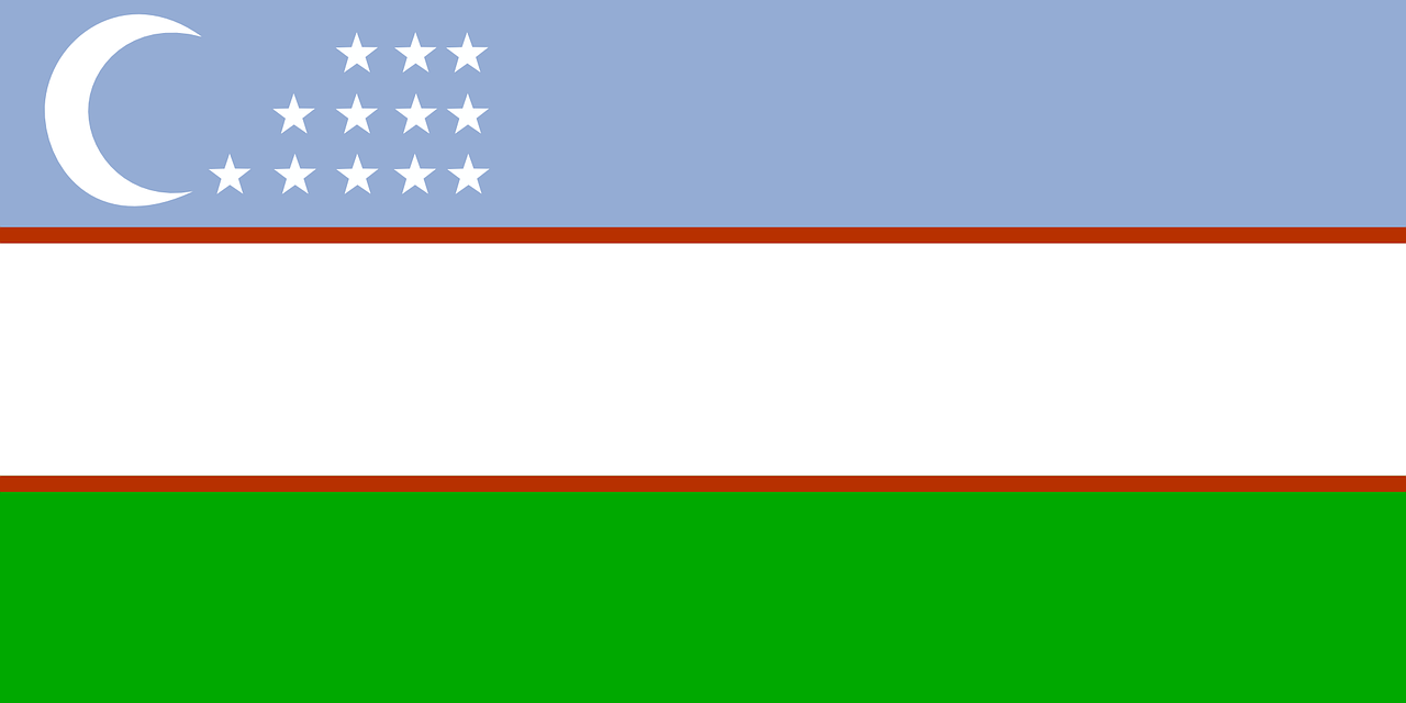 uzbekistan flag asia free photo