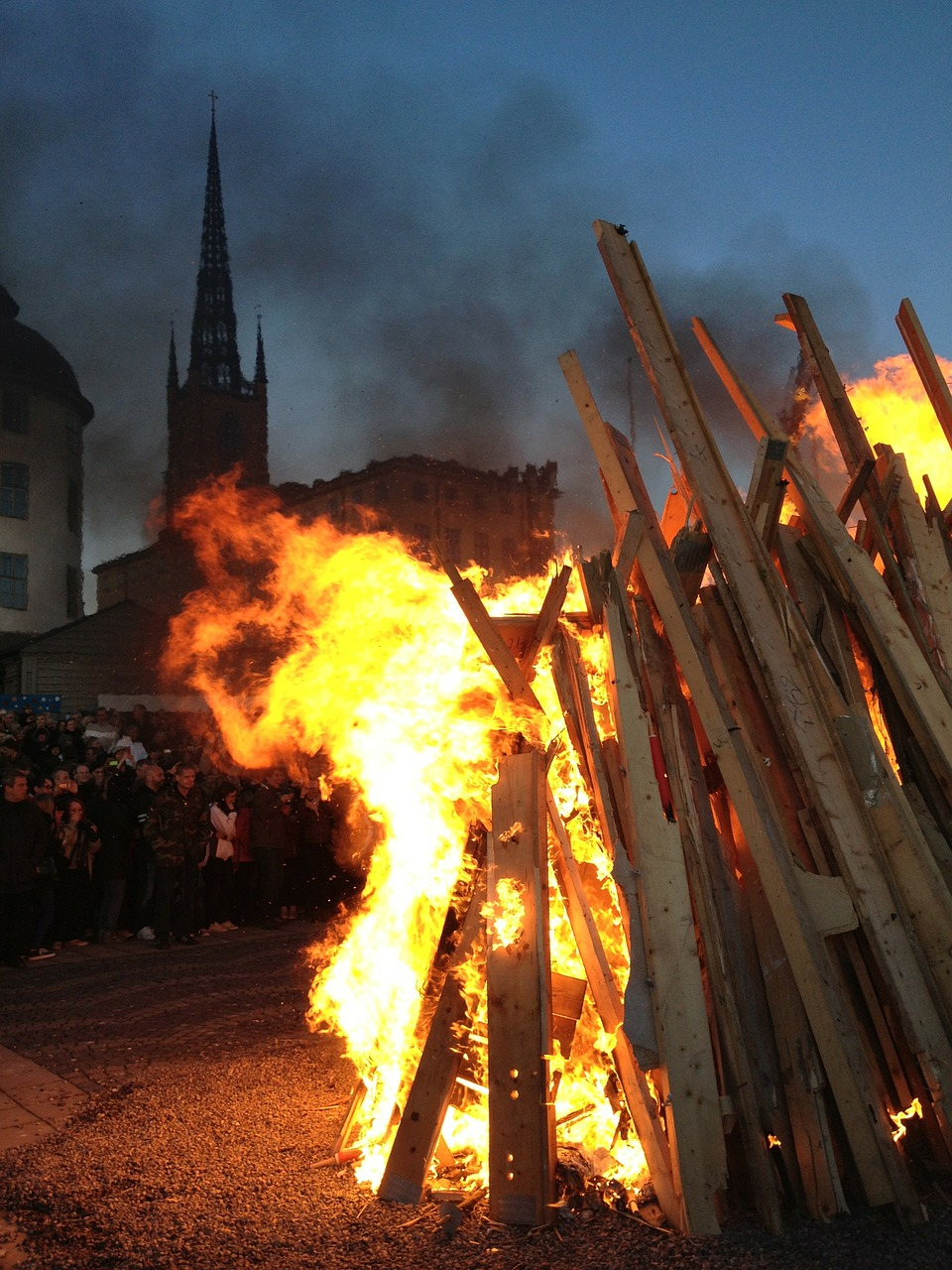 valborg bonfire riddarholmen free photo