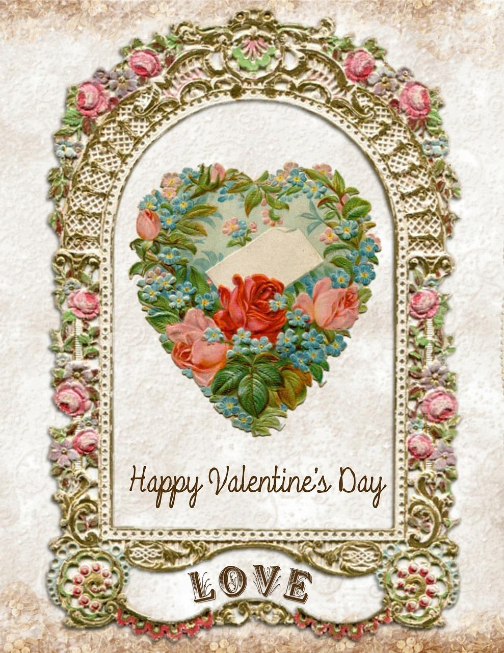Valentine S Day Love Valentine Card Ornate Free Photo From Needpix Com