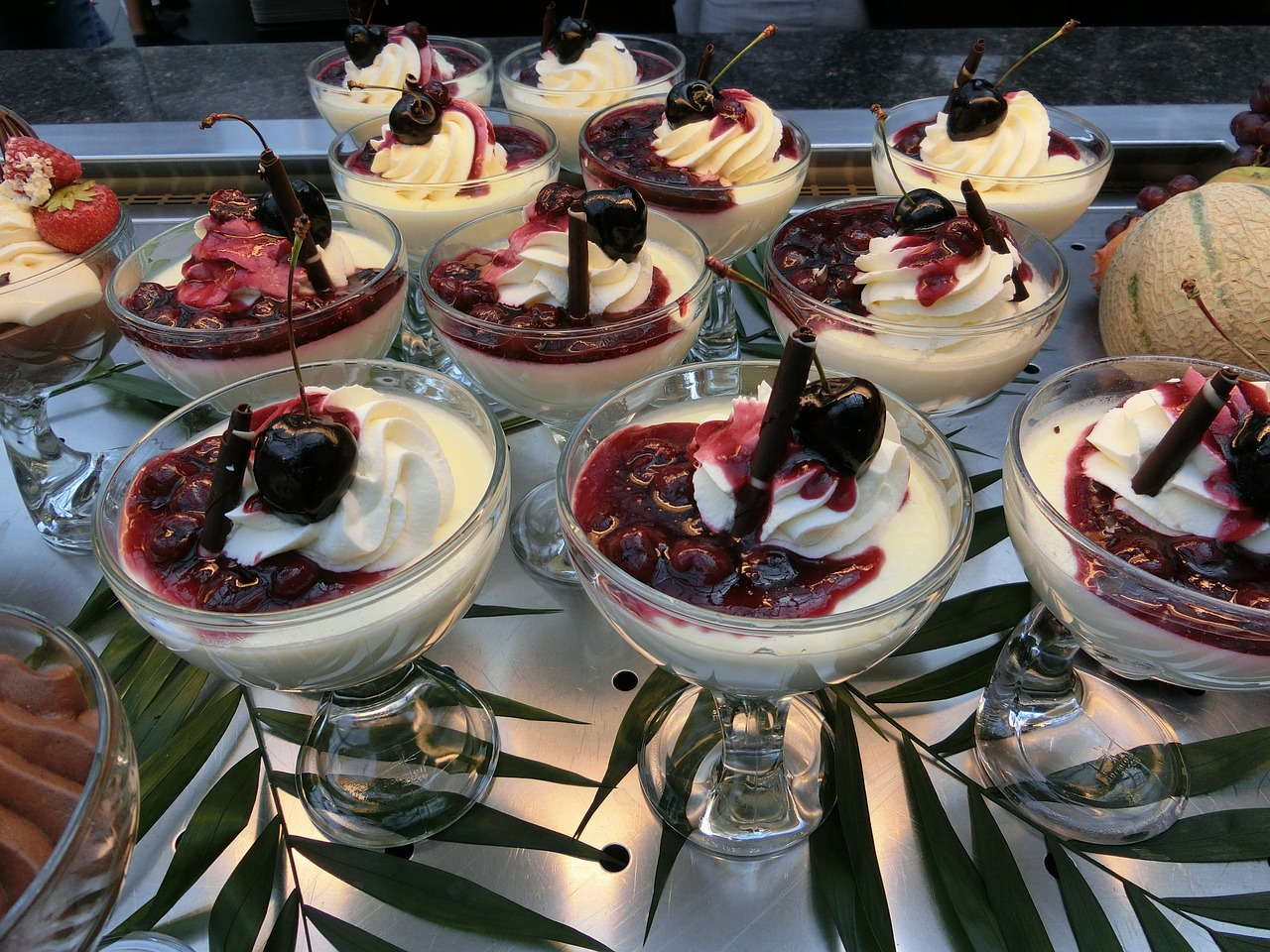 vannille pudding desert calorie bomb free photo
