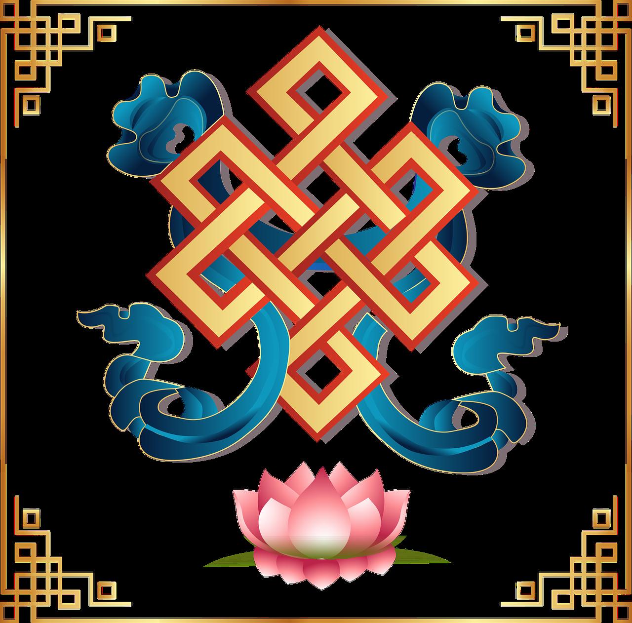 Vectorauspicious Symbolmongoliabuddhismendless Knot Free Photo
