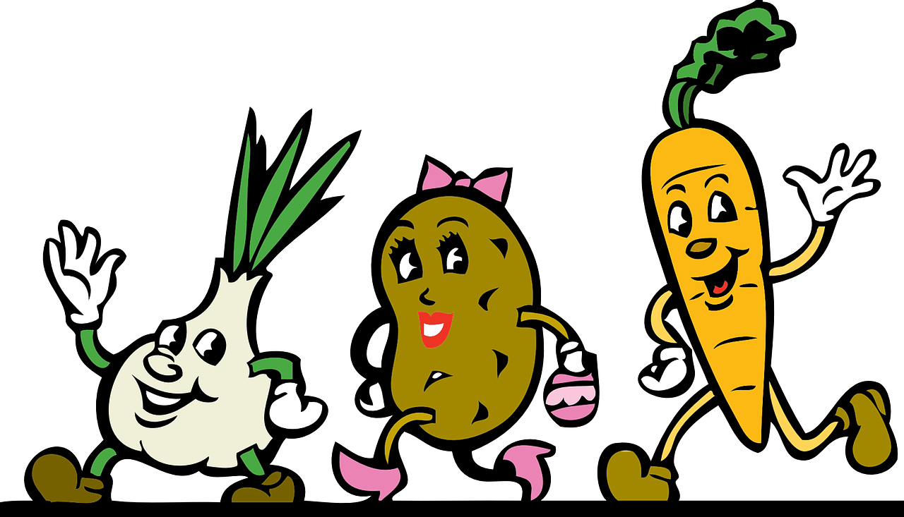 vegetables cartoon root vegetables free photo