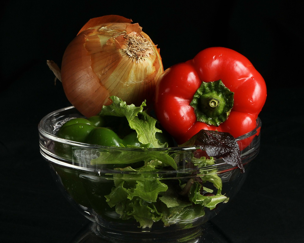 vegetables peppers onion free photo