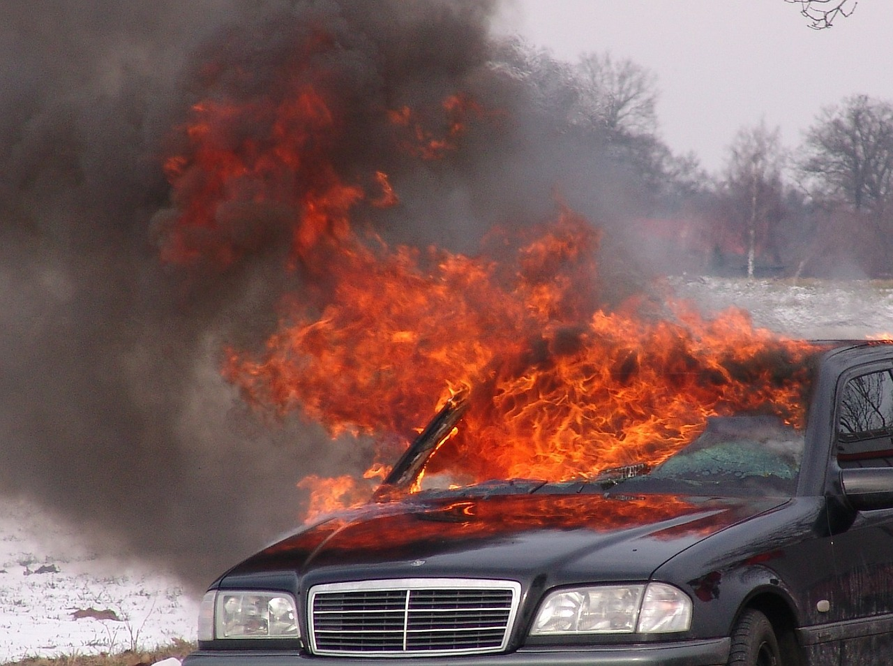 vehicle fire fire brand free photo