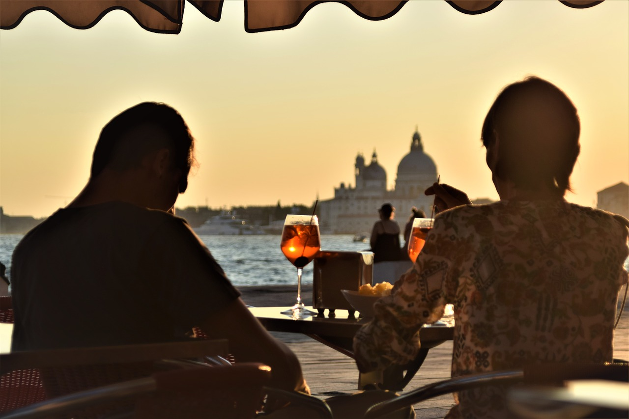venice sunset sundowner free photo