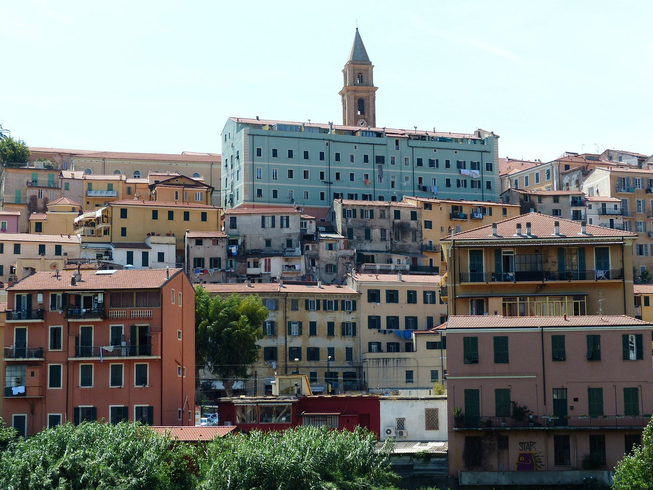 ventimiglia old town roofs free photo