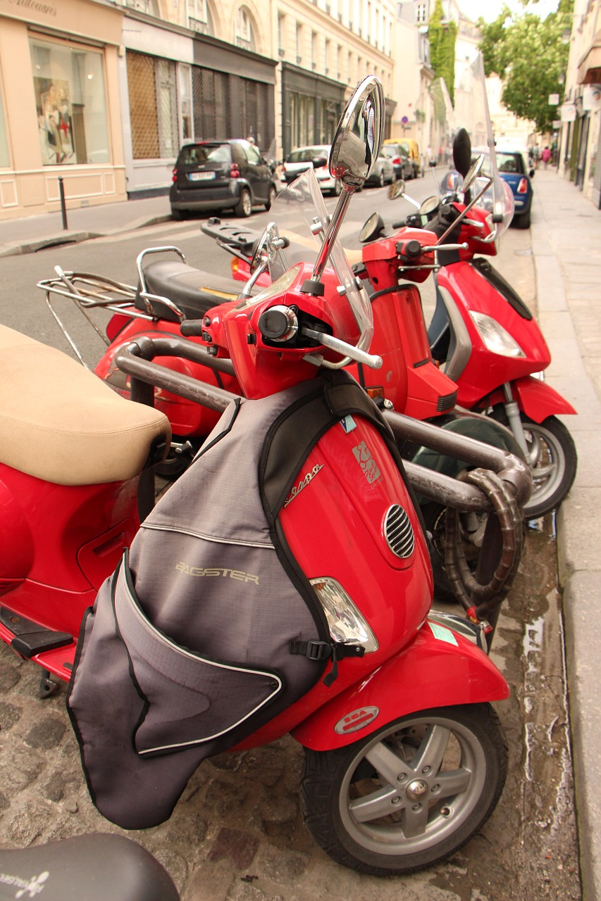 vespa scooter street free photo