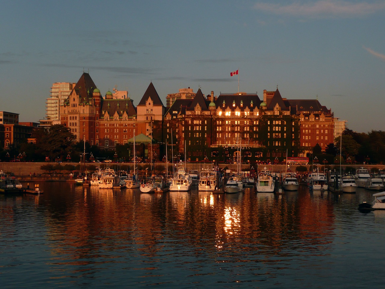 victoria harbor empress hotel free photo