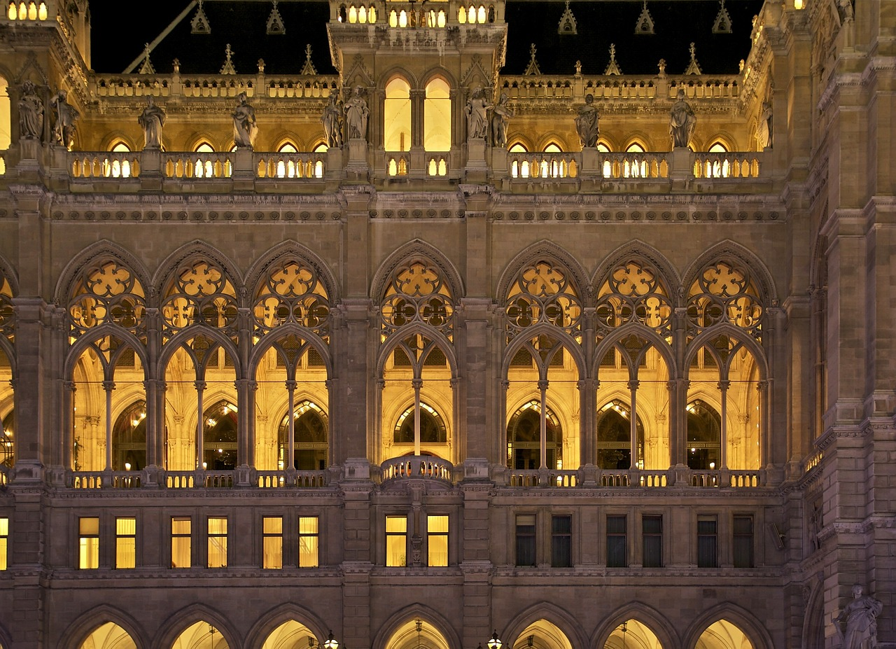 vienna austria city hall free photo