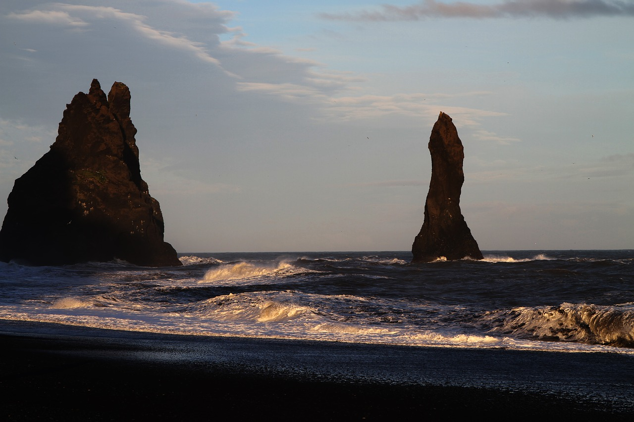 Rock formations at Reynisfjara Beach