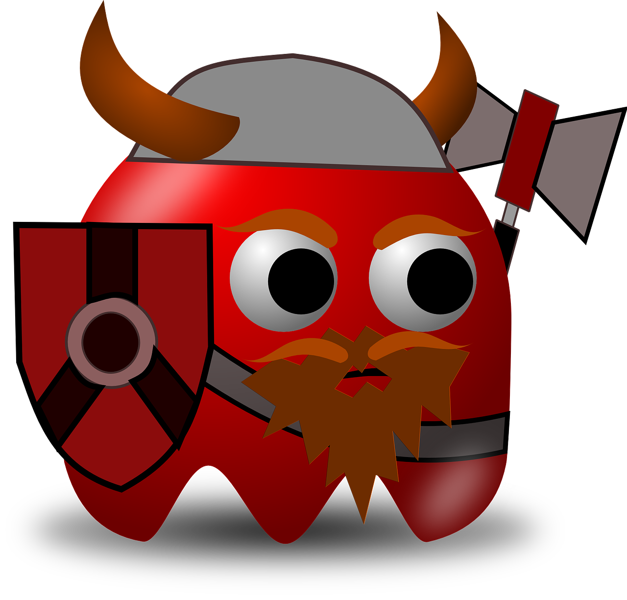 viking bearded pacman free photo