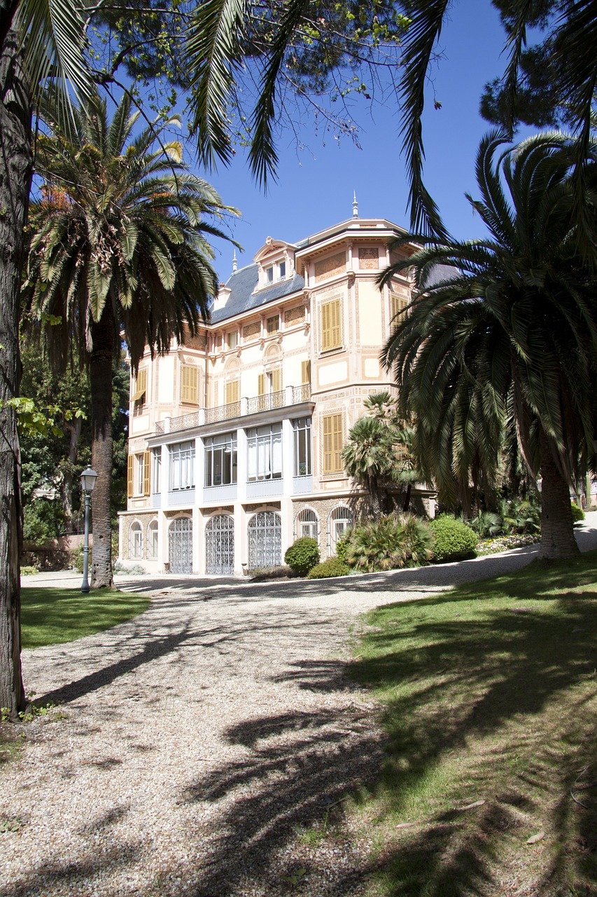 villa nobel sanremo last place of residence free photo