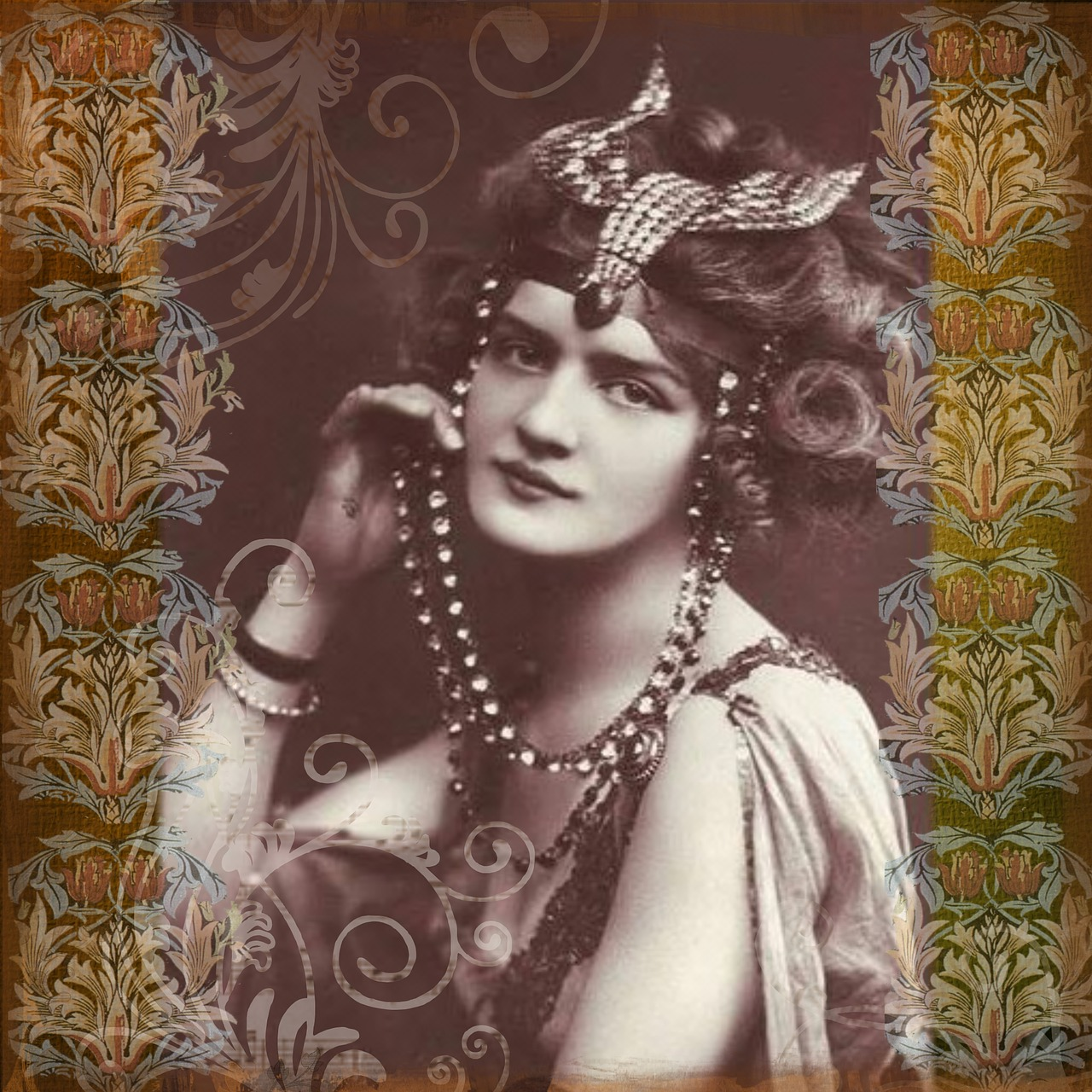 vintage lady digital art free picture