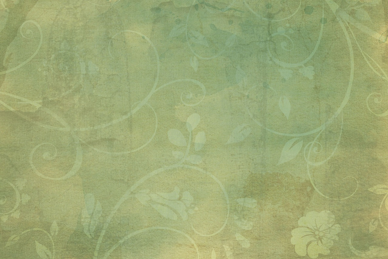vintage green flourish free photo