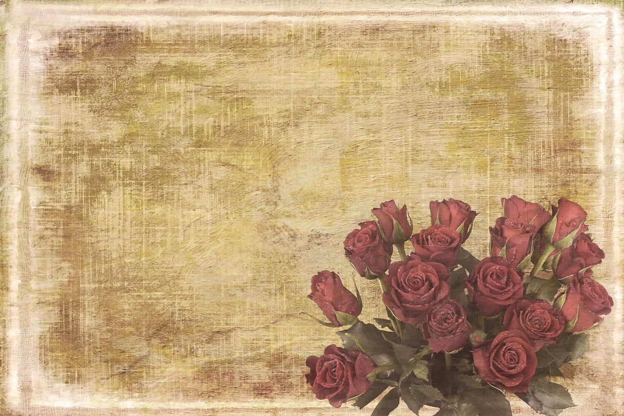 открытки под старину цветы нужно