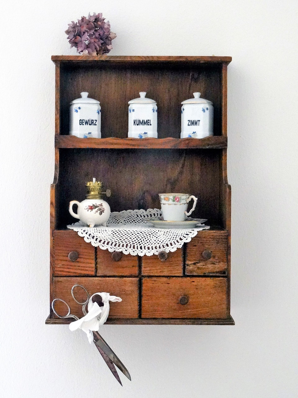 Vintage Spice Cabinet Antique - Vintage,spice Cabinet,antique,farmhouse,kitchen - Free Photo From