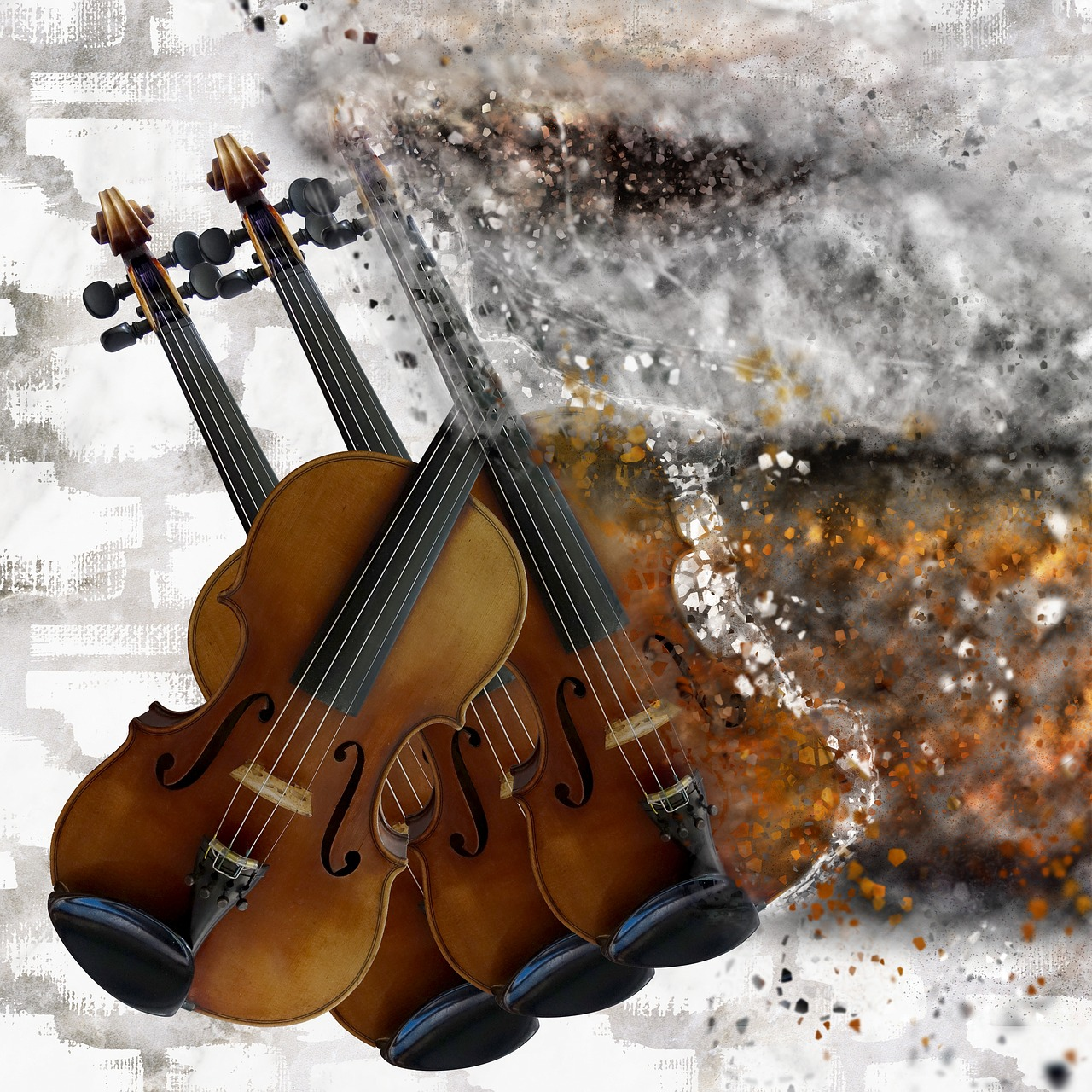 violin  explosion  music free photo