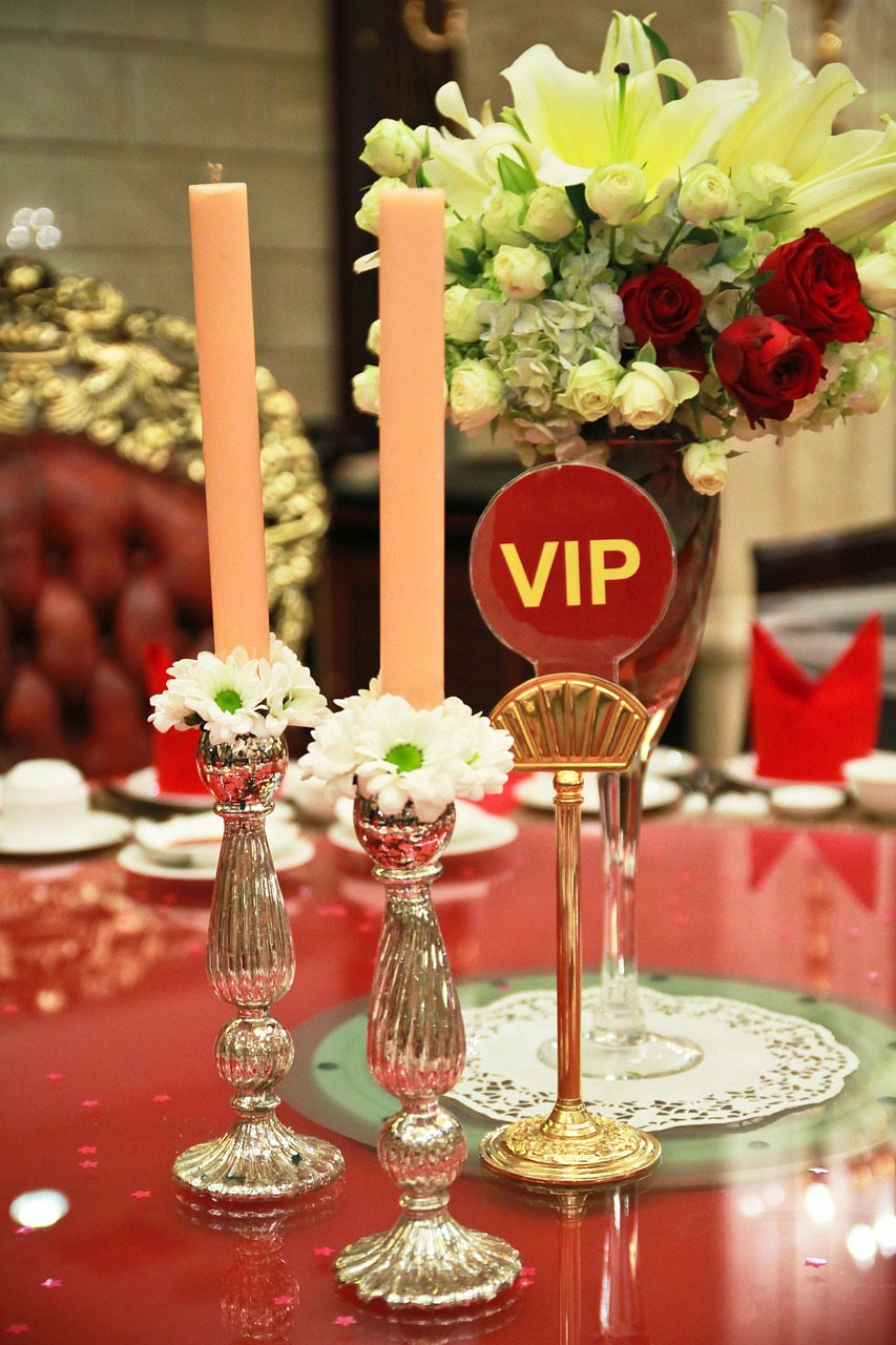 vip table dining table setting free photo